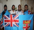 Members of the Surrey based Peace Social club show their support to the Digicel Fiji 7s.