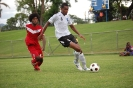 Fiji U20's double goal hero, Rusiate Matirerega calmly controls the ball against New Caledonia. Fiji won 3-2.